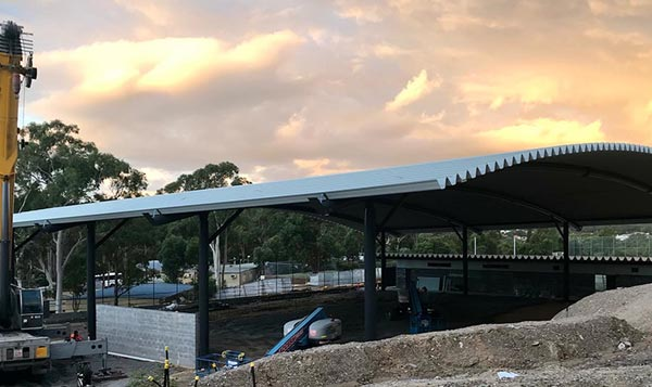 Long Span Curved Roof Construction