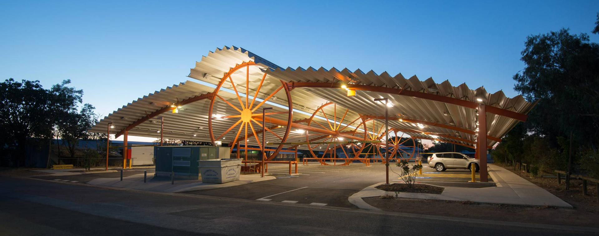 Shade Structures For Car Parking Areas