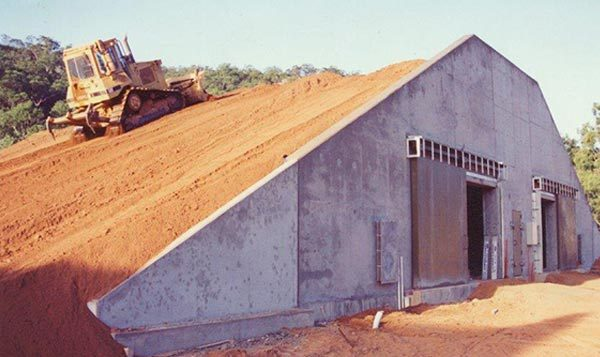 Earth Covered Building Construction Process