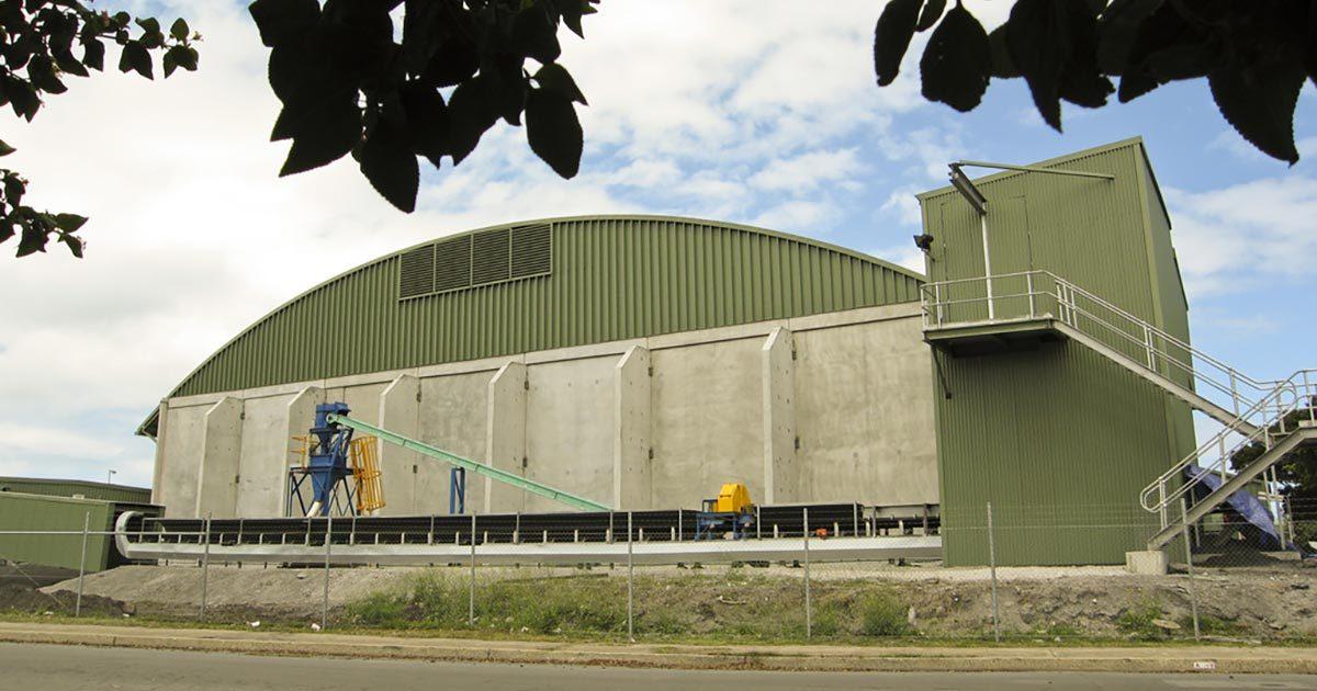 Hyrock Port Kembla Copper concentrate bulk storage and handling facility