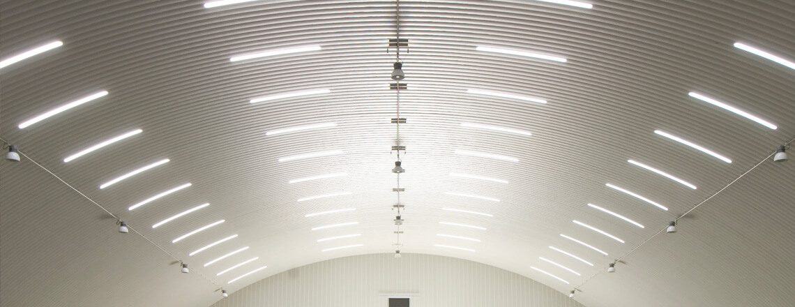 Wide Span Curved Roof Profiles